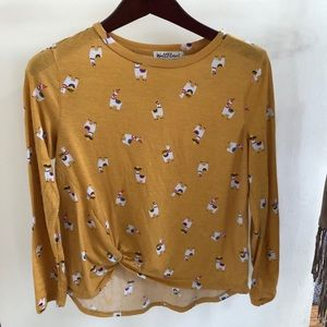 Yellow llama/alpaca fiesta shirt - wallflower